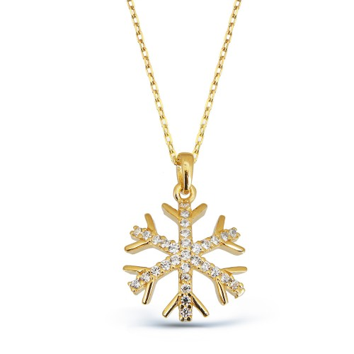 Gold Snowlake Necklace
