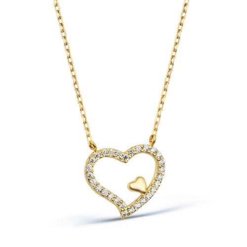 Heart Necklase - 8K Gold