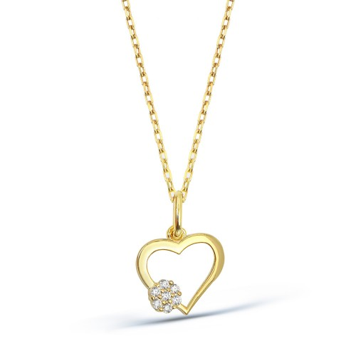 Heart Necklase - 8K Gold
