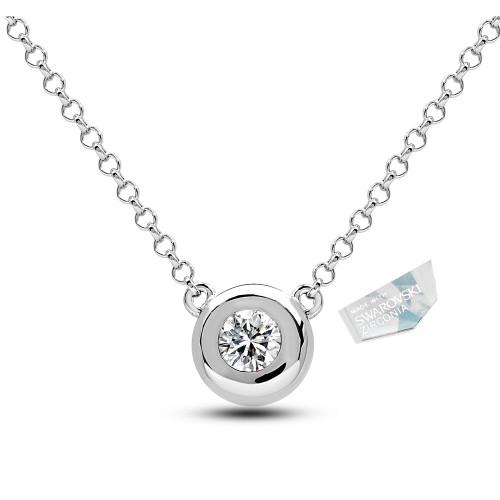 Swarovski Bezel Silver Pendant