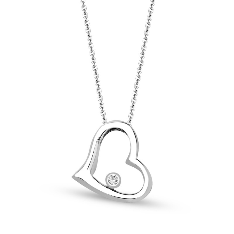 Heart pendant white swarovski heart pendant white mozeypictures Images