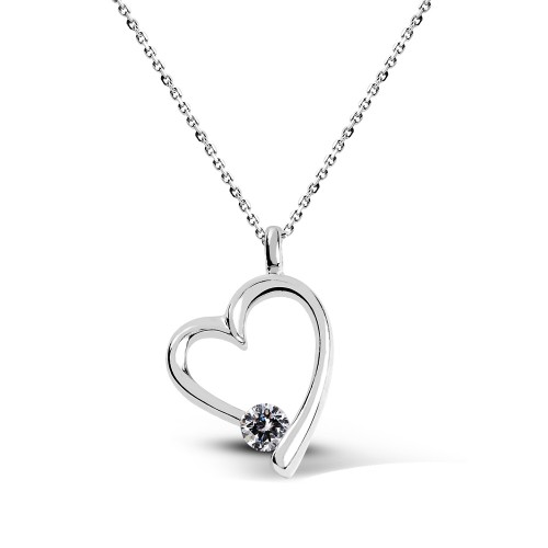 6 mm Swarovski Heart Pendant