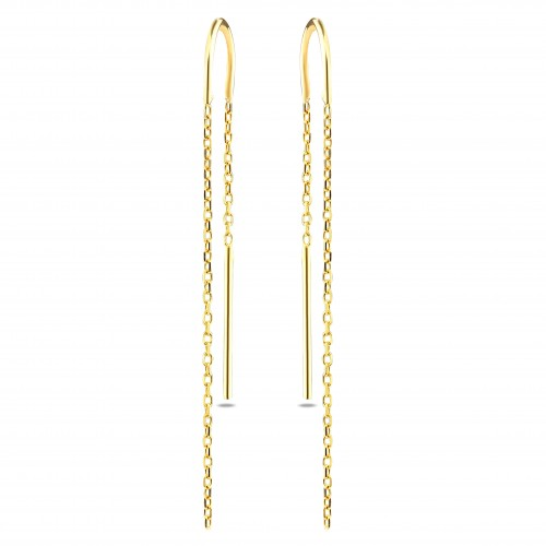 Chain&Stick Earring-Gold