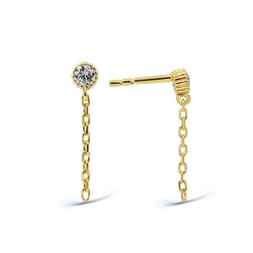 Chain Earring-Gold