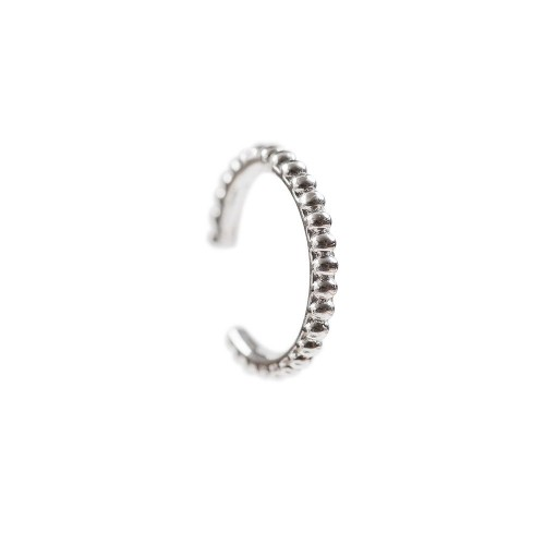 11mm Pointed Earcuff-White Gold Plated
