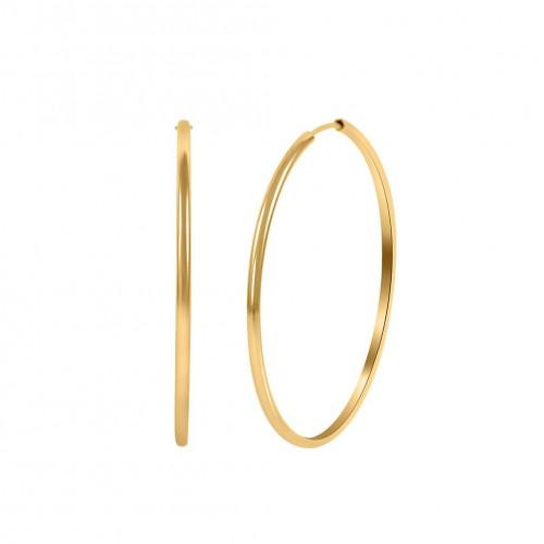 Hoops Earring Gold Color-5cm Diameter