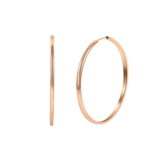 Hoops Earring Rose Gold Color-5cm Diameter