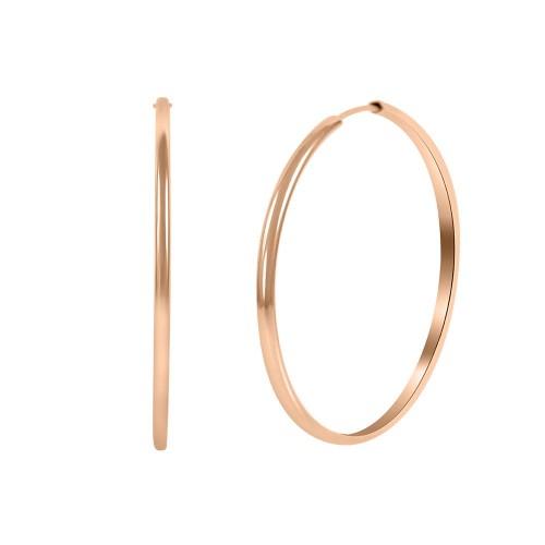 Hoops Earring Rose Gold Color-6cm Diameter