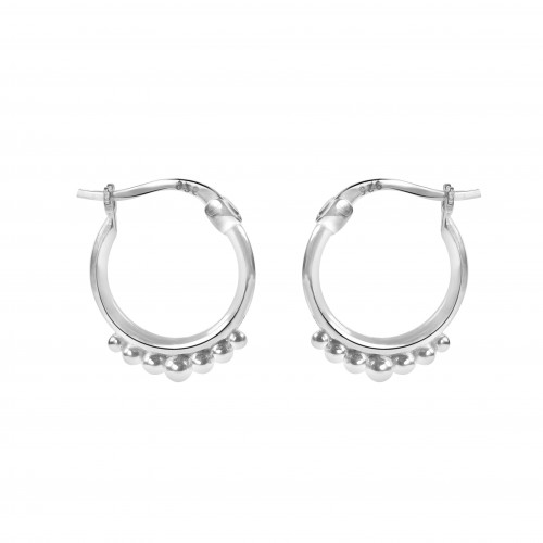 5 Points Hoops White Gold Color