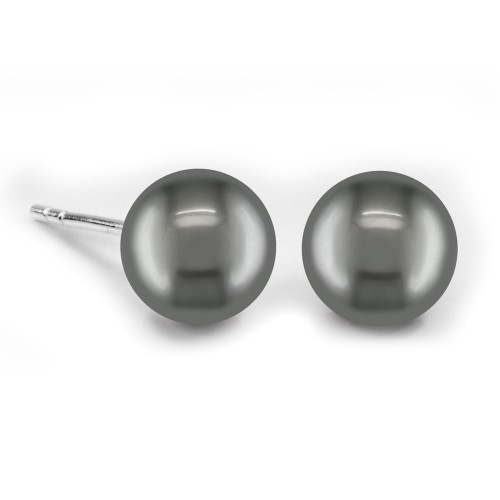 6mm Sweet Water Pearl Studs-Black