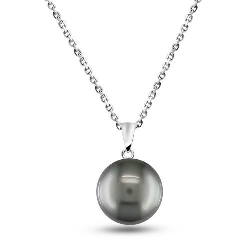 6mm Sweet Water Pearl Pendant-Black