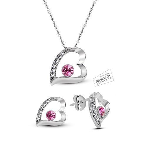 Swarovski Element 7 Hearts Set - Pink