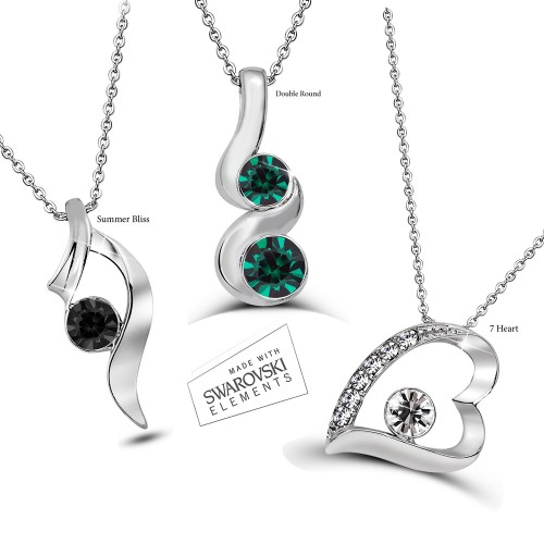 Swarovski Element Mixed Necklace Set