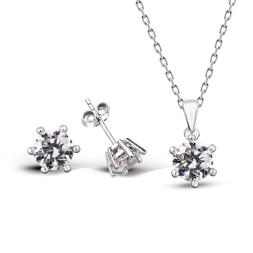Swarovski 6 mm Silver Set