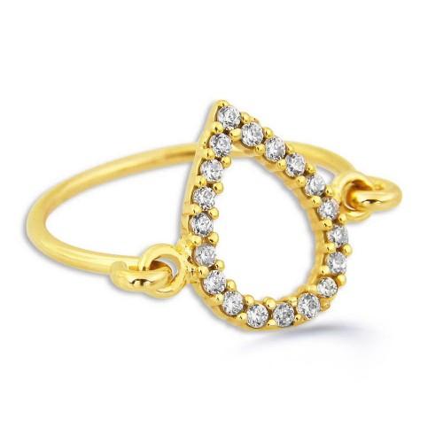 Hand Made Pears Ring-Gold