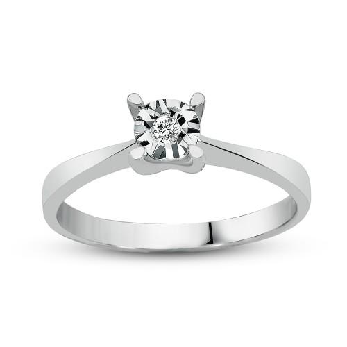 0,50Crt Effect Diamond Ring-Silve