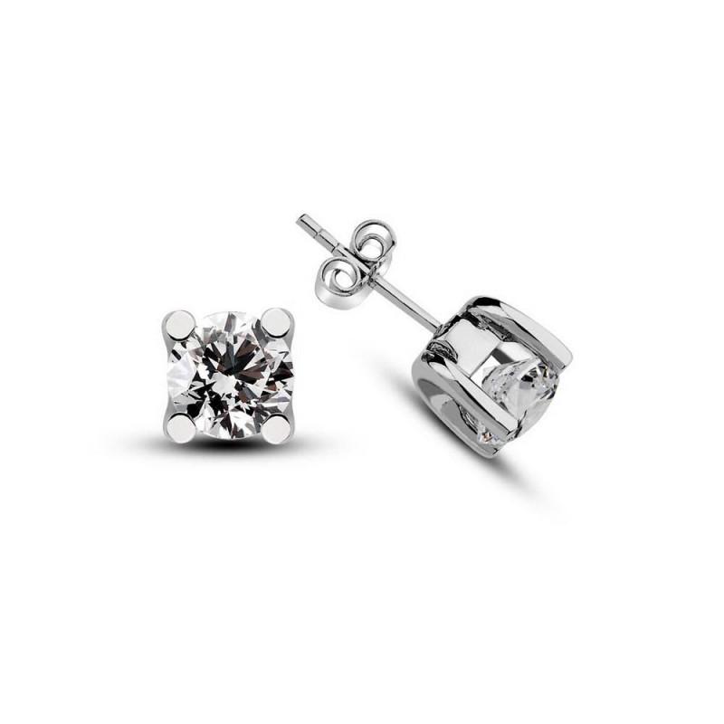 10 CT H-I / SI Diamond Earring - Silver