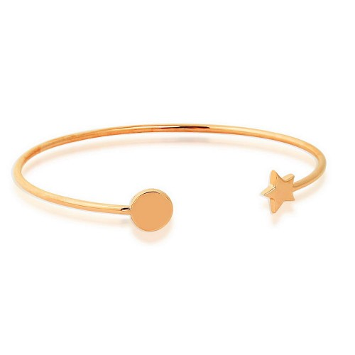 Star&Round Silver Bracelet