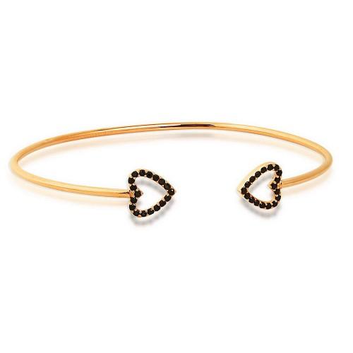 Double Heart Silver Bracelet